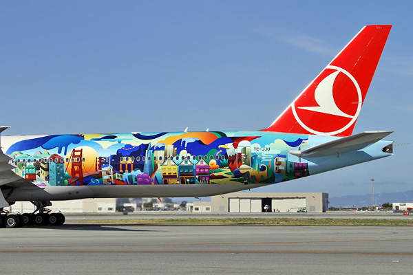 Turkish 777-300 TC-JJU (15-Tail-San Francisco) SFO (MDB)(LRW)