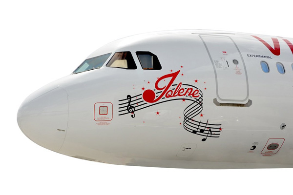 Virgin A320 nose Jolene