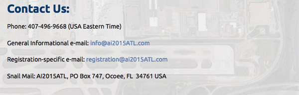 Airliners International 2015 Contact Us