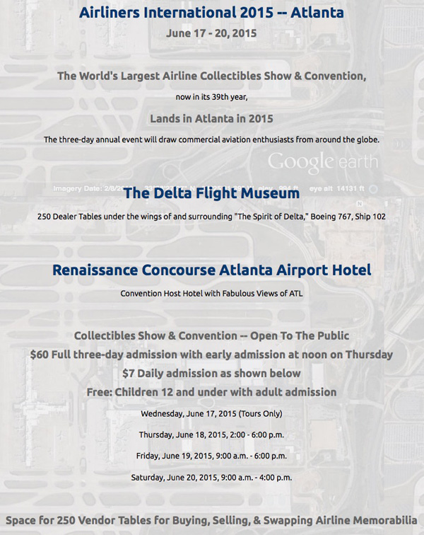 Airliners International 2015 Information