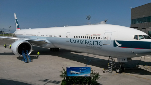 Cathay Pacific CAT 50th 777-300ER Delivery