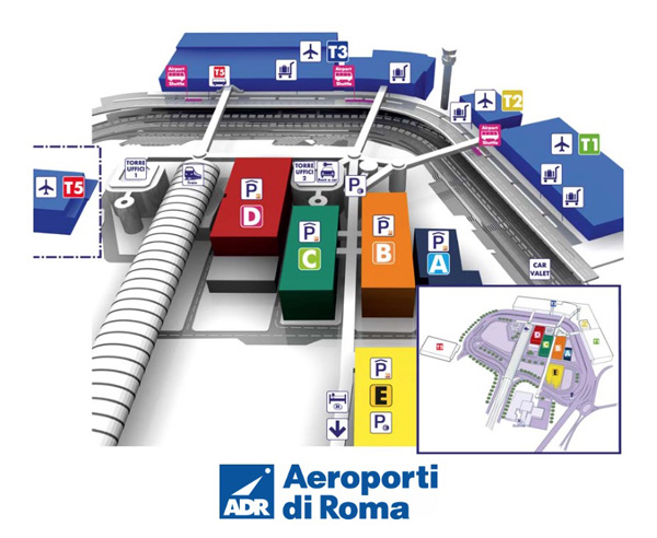 FCO Airport Terminal Map