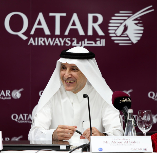 Qatar Airways CEO Akbar Al Baker (Qatar)(LRW)