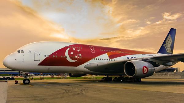 Singapore A380-800 9V-SKI (15-50th Anniversary)(Grd) SIN (Singapore)(LRW)