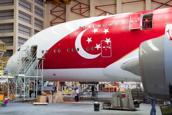 Singapore A380-800 9V-SKI (15-50th Anniversary)(Nose) SIN (Singapore)(LRW)