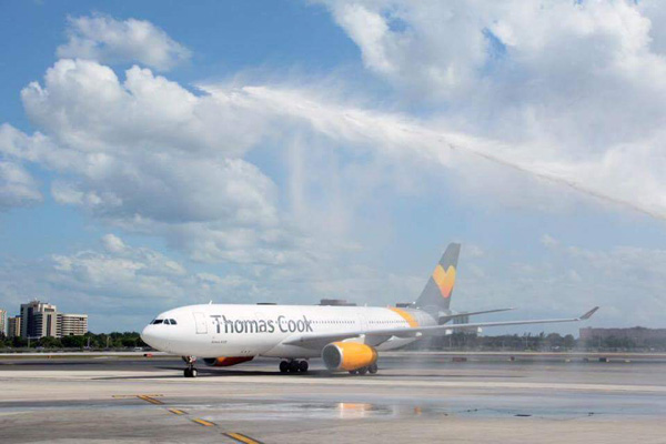 Thomas Cook (UK) A330 arrives at MIA (MDAD)(LR)