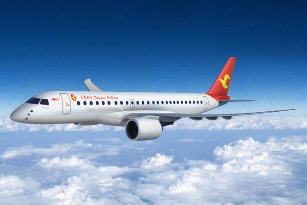 Tianjin E190-E2 (12)(Flt)(Embraer)(LRW)