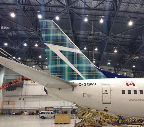 WestJet 737-700 WL C-GQWJ (15-Tartan Tail)(Tail)(WestJet)(LR)