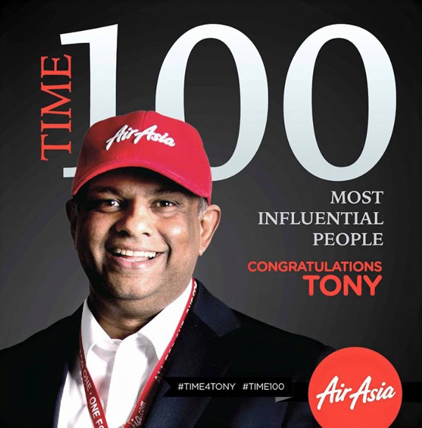 AirAsia CEO Tony Fernandes Time 100