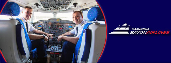 Cambodia Bayon flight crew