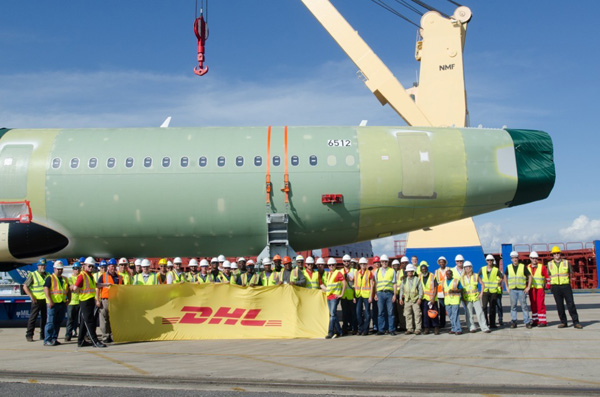 DHL transport first A320 to Mobile