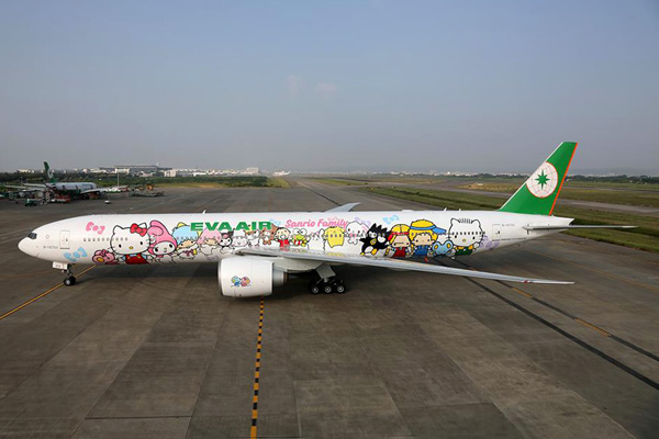 EVA Air 777-300 B-16722 (15-Hello Kitty-Shing Star)(Grd) TPE (EVA Air)(LRW)