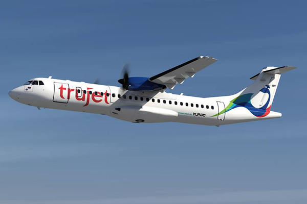 TruJet ATR 72-500 9M-TAG (15)(Flt)(Trujet)(LRW)