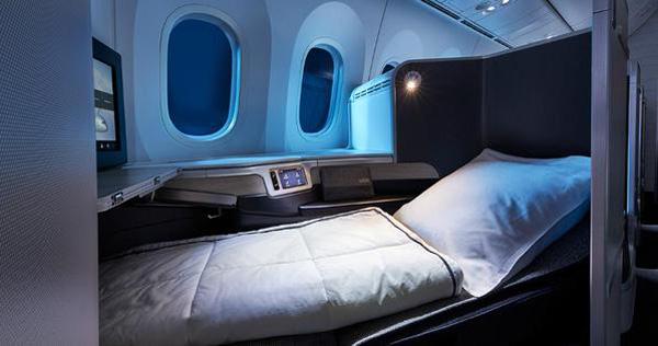 Air Canada 787 bed