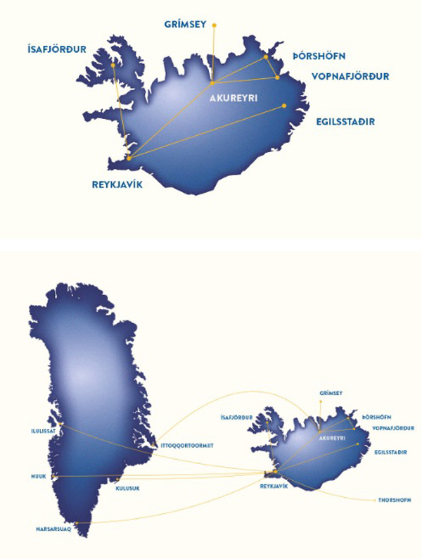 Air Iceland 7.2015 Route Map