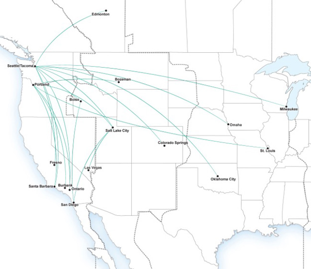 Alaska SkyWest 7.2015 Route Map