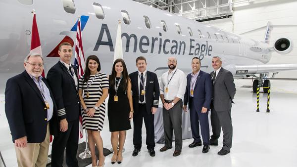 American Eagle-Mesa CRJ900 delivery ceremony (Bombardier)(LRW)