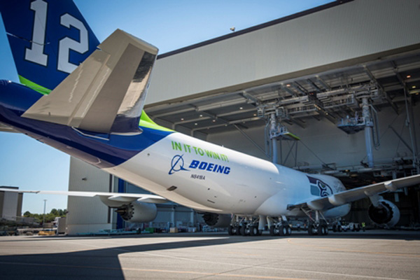 Boeing 747-800F N841BA (Seahawks)(tail)(Katie Lomax)(LR)