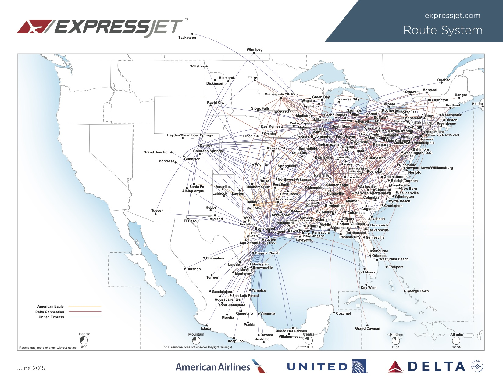 map for the full size view expressjet 72015 route