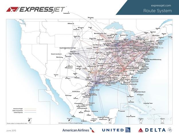 ExpressJet 7.2015 Route
