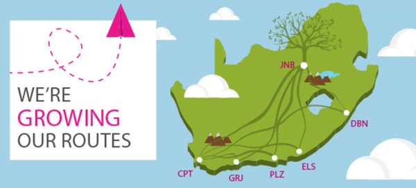 FlySafair We are growing our routes