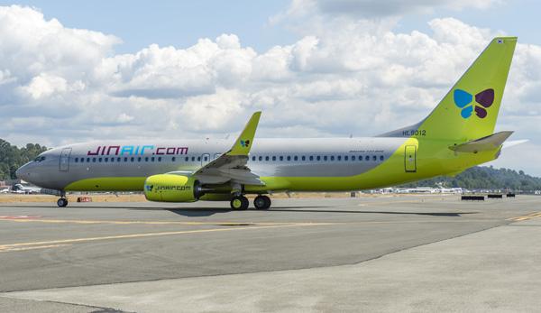 Jin Air.com 737-800 WL HL8012 (08)(Grd) BFI (Boeing)(LRW)