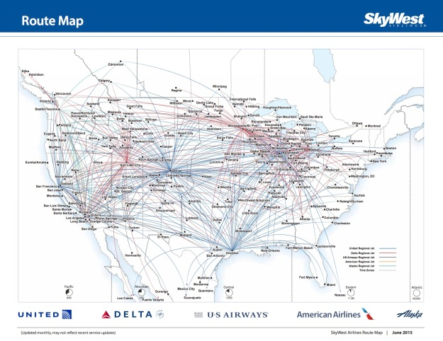 SkyWest 7.2015 Route Map