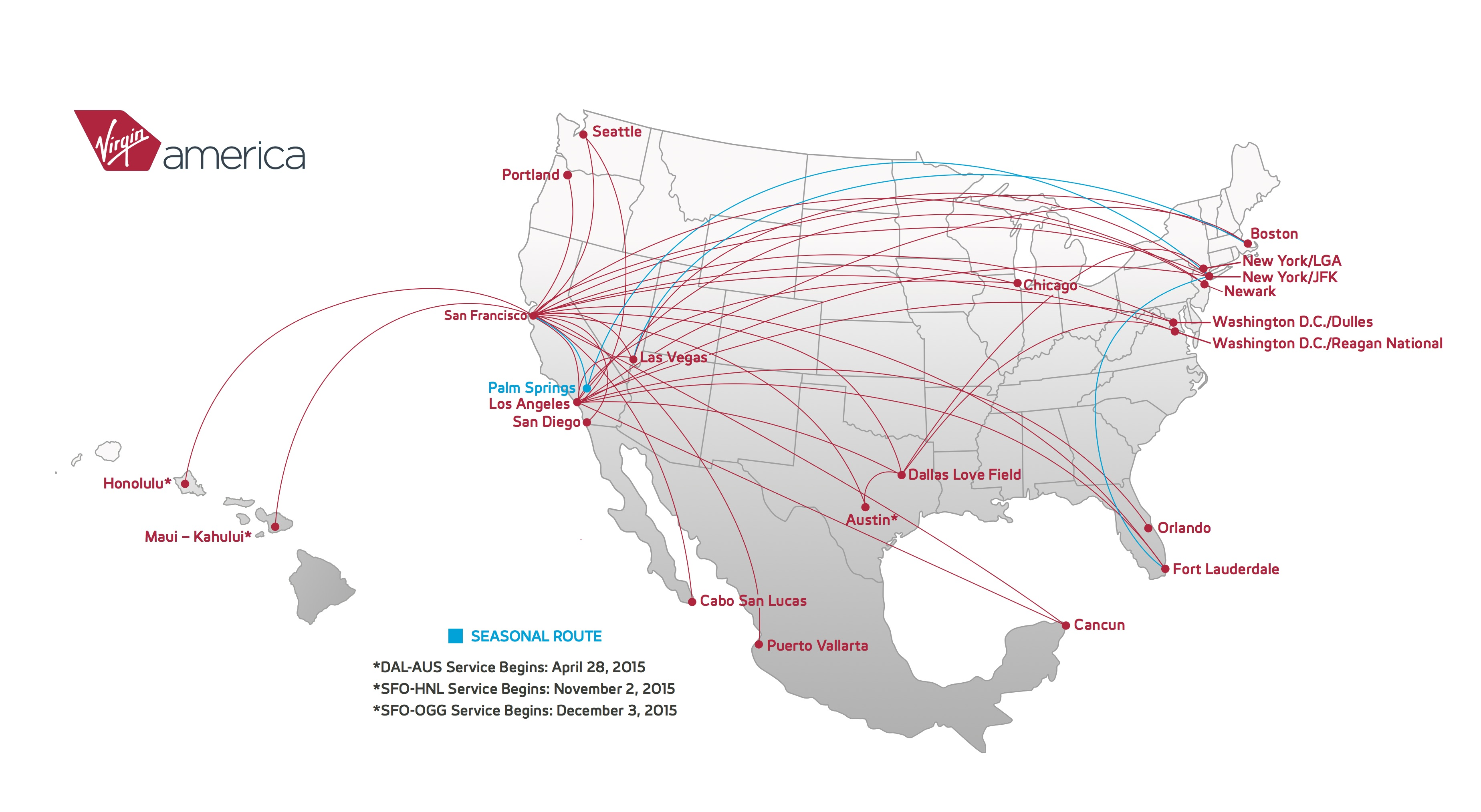virgin america routes