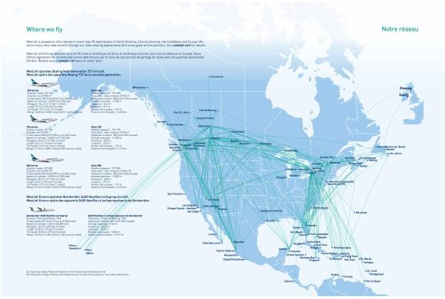 WestJet 7.2015 Route Map