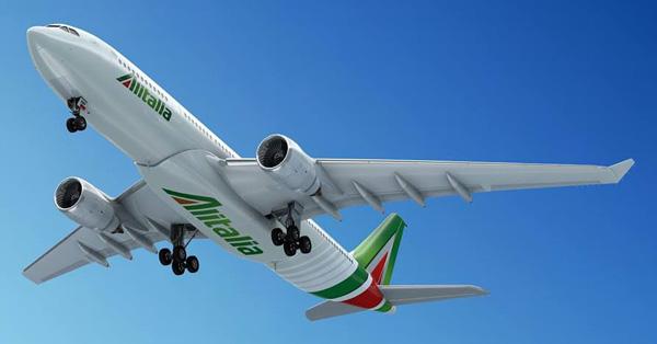 Alitalia A330 underside (Alitalia)(LR)