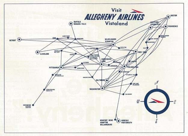 Allegheny 1966 Route Map