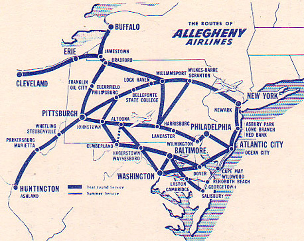 Allegheny 9.1.53 Route Map