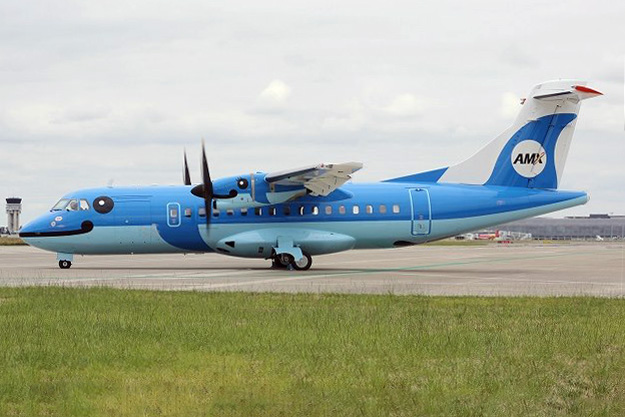 AMX (Amakusa) ATR 42-600 JA01AM (15)(Grd) TLS (AMX)(LR)