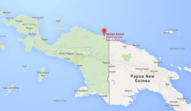 Map Jayapura, Papua, Indonesia