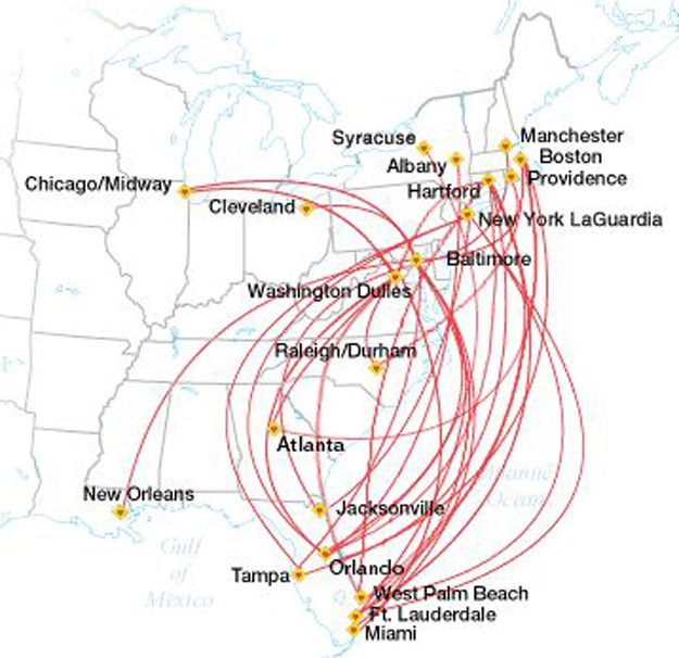 US Airways World Airline News - Us airways direct flights map