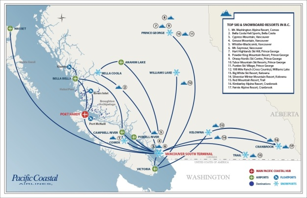 Pacific Coastal 8.2015 Route Map