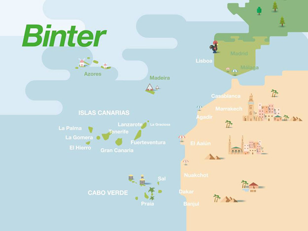 Binter destinations (Binter)(LR)