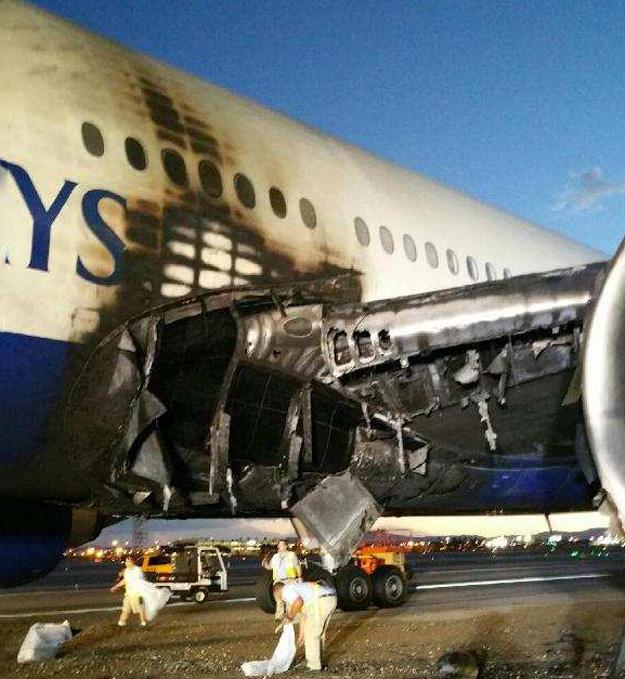 British Airways Boeing 777-236 ER G-VIIO is damaged at Las Vegas due ...