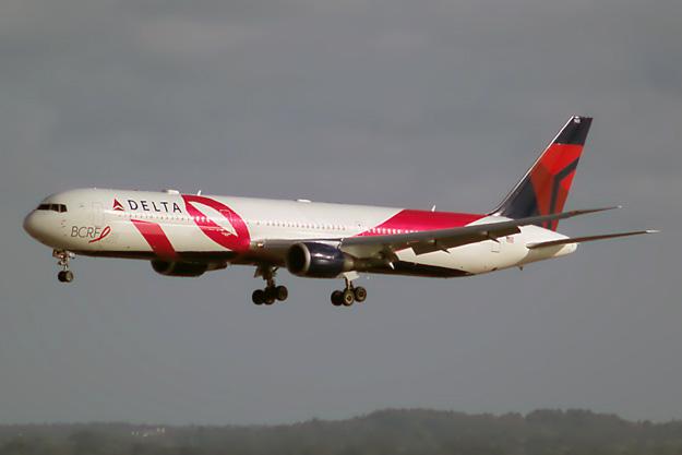 Delta 767-400 N845MH (15-BCRF)(Ldg) BOS (Jeff Magnet)(LRW)