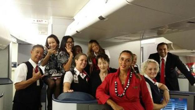 Delta crew of N661US (Delta)(LR)