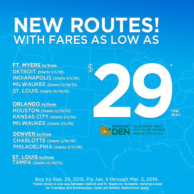 Frontier Airlines announces 8 new routes, the new Airbus A321 to be ...
