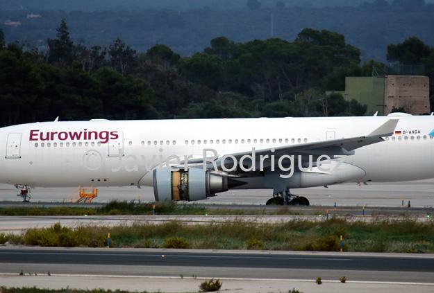Eurowings\' Airbus A330-203 D-AXGA arrives in Palma de Mallorca ...