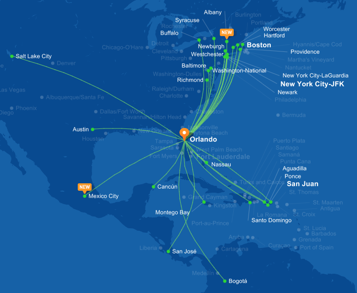 JetBlue launches flights to Mexico City World Airline News