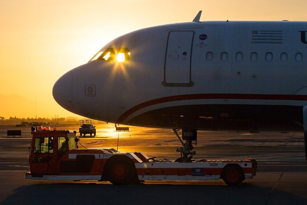 Sunset for US Airways (American)(LRW)