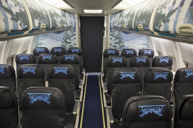 WestJet 737-800 SSWL C-GWSV (15-Walt Disney World-Frozen)(Cabin)(Westjet)(LR)