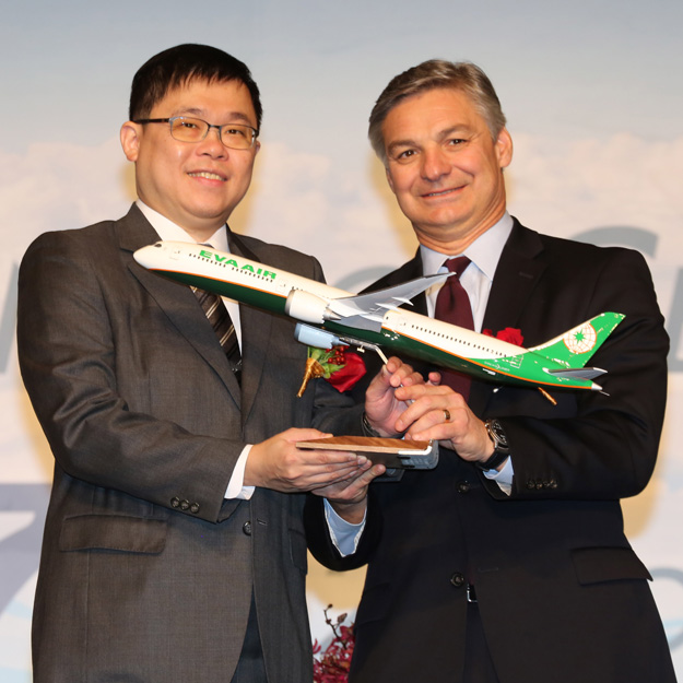 EVA Air 787-10 signing ceremony (Boeing)(LRW)