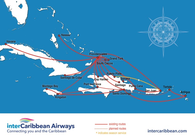 InterCaribbean 11.2015 Route Map