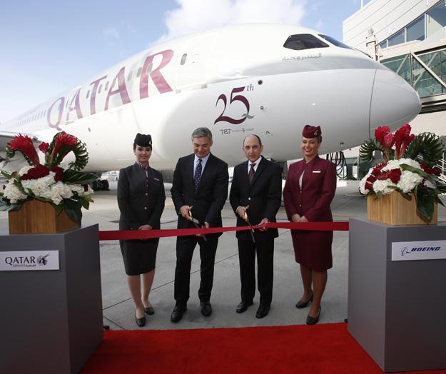 Qatar 787-8 A7-BCY (06)(Delivery Ceremony)(Qatar)(LRW)