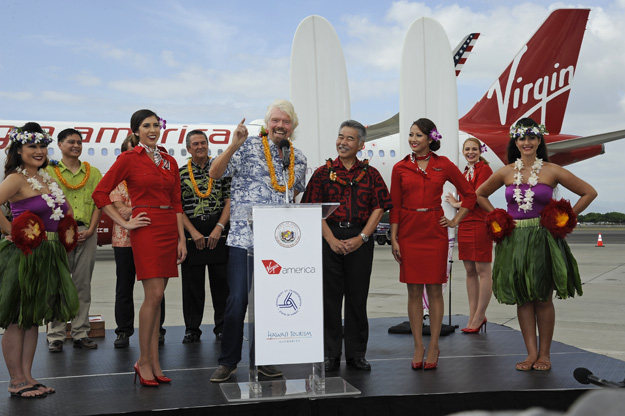 Virgin America arrives in Hawaii (VA)(LRW)