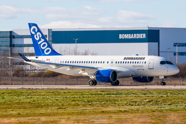 Bombardier CS100 C-FFCO (50006)(Grd) YMX (Bombardier)(LRW)